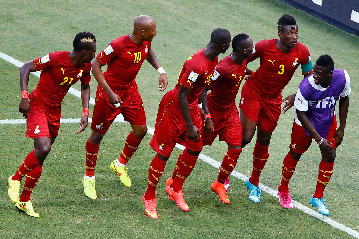 world cup goal celebration ghana