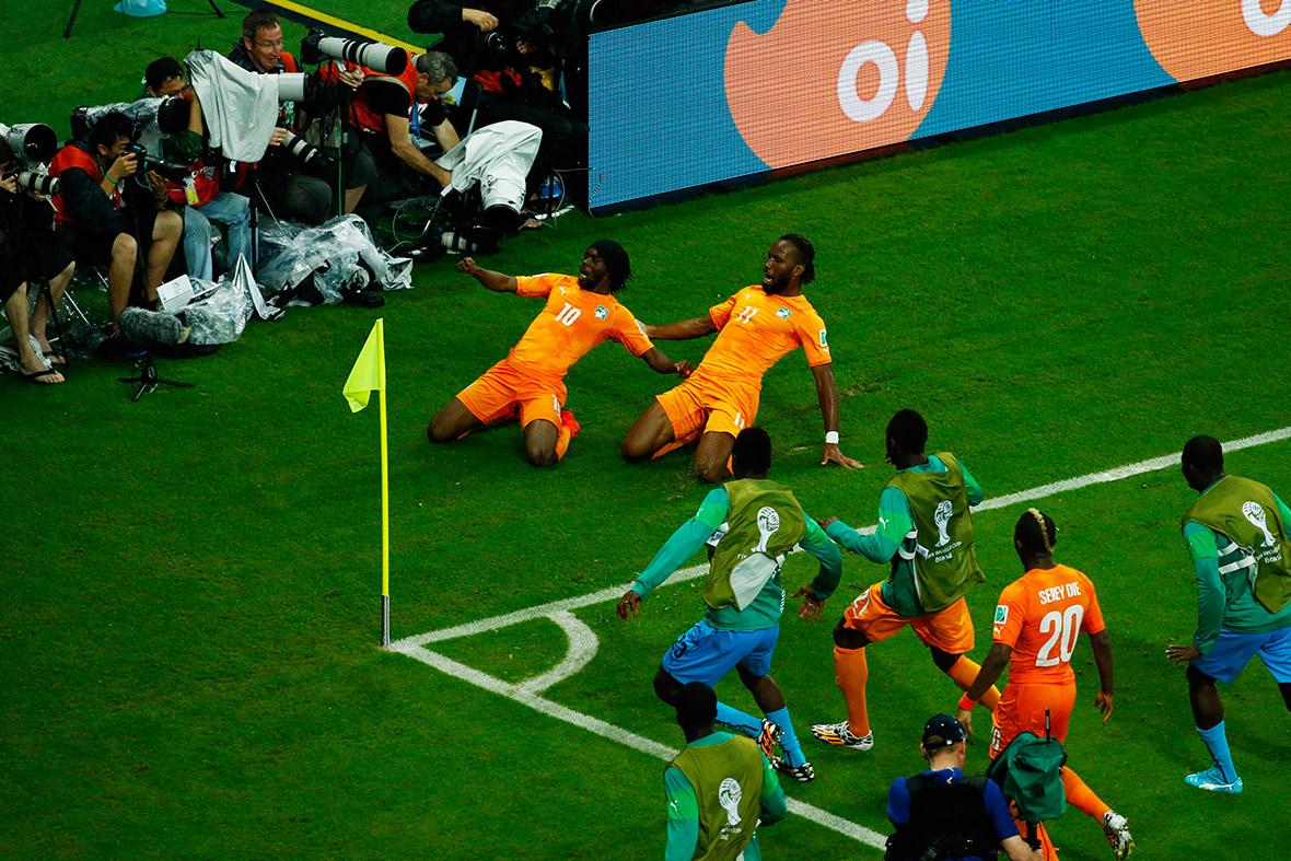 world cup goal celebration drogba