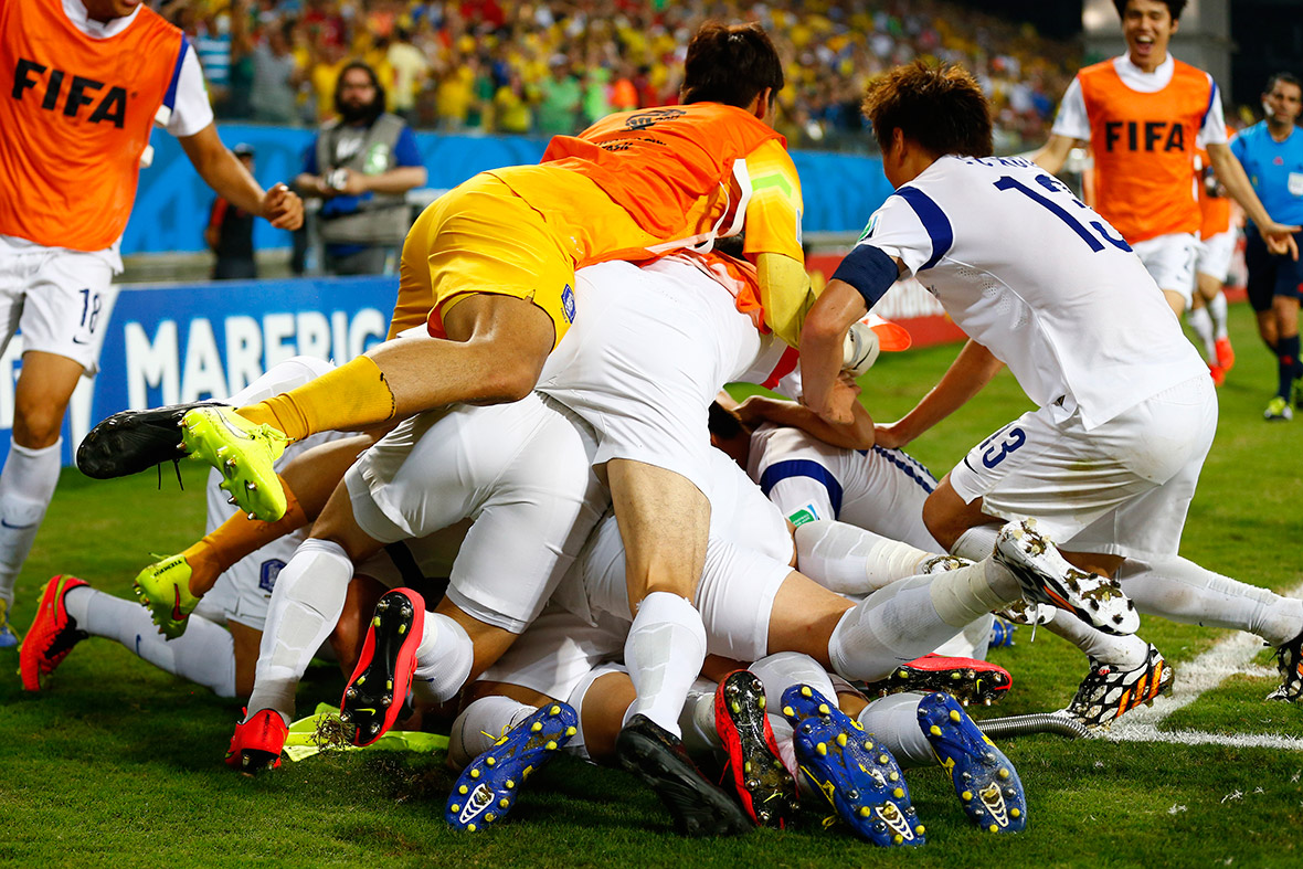 world cup goal celebration south korea
