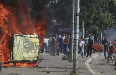 Nato Peacekeepers Kosovo Mitrovica Bridge Clashes Serbs Albanians