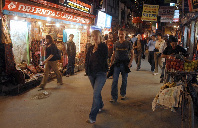 Tamel is a tourist destination in Kathmandu