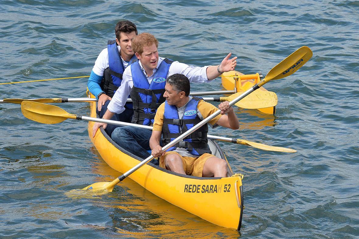 prince harry canoe