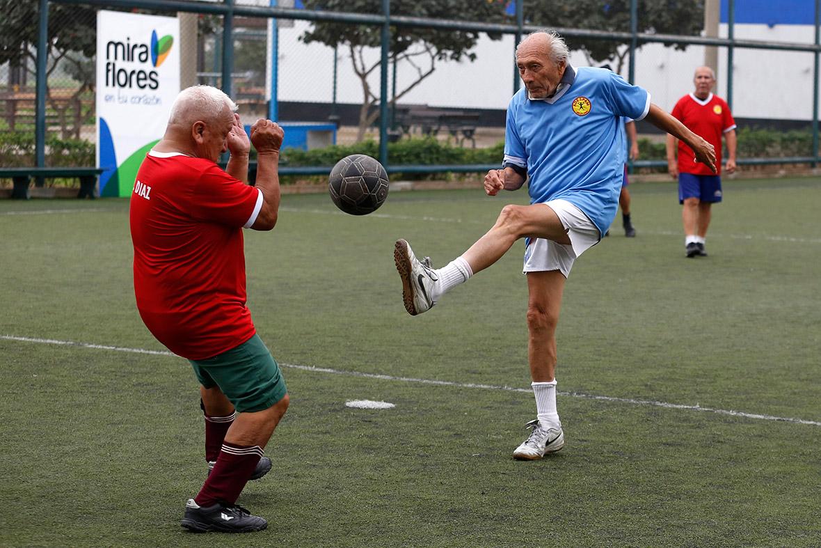 elderly football