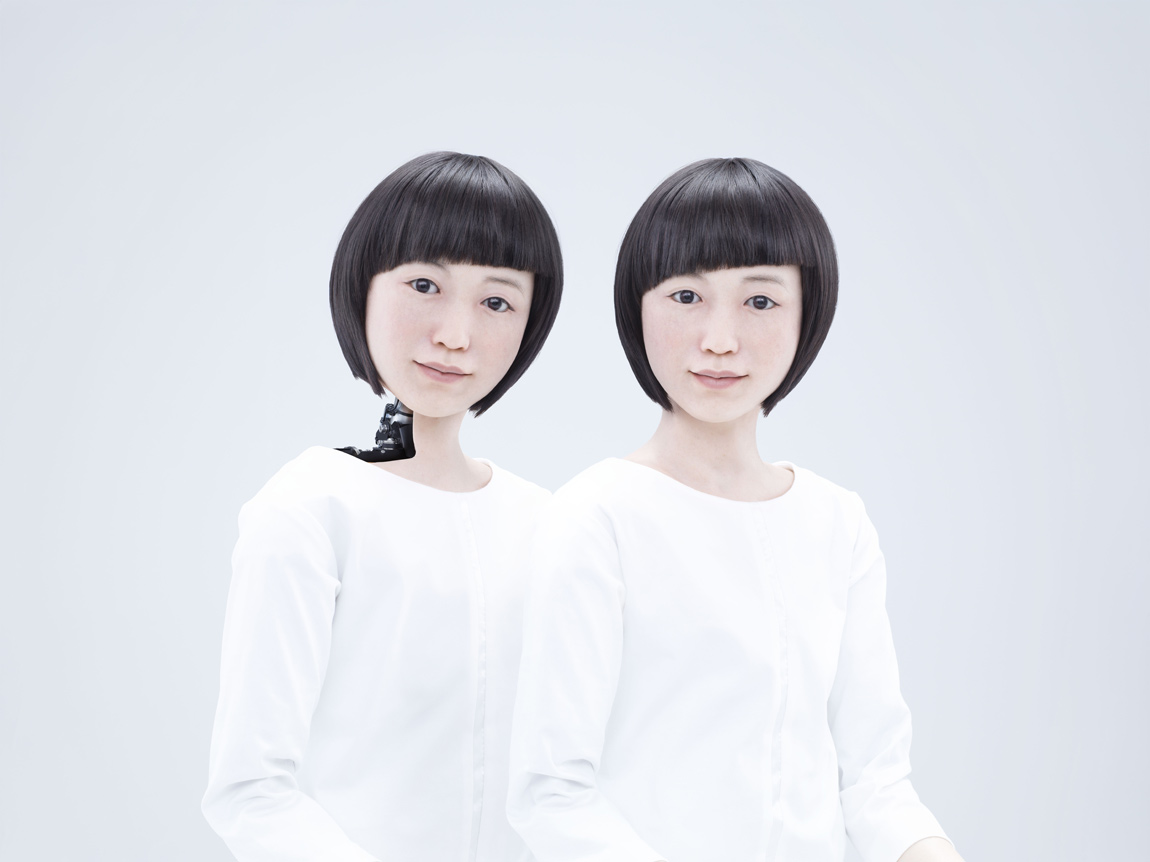 Kodomoroid, a robot news presenter that resembles a human child