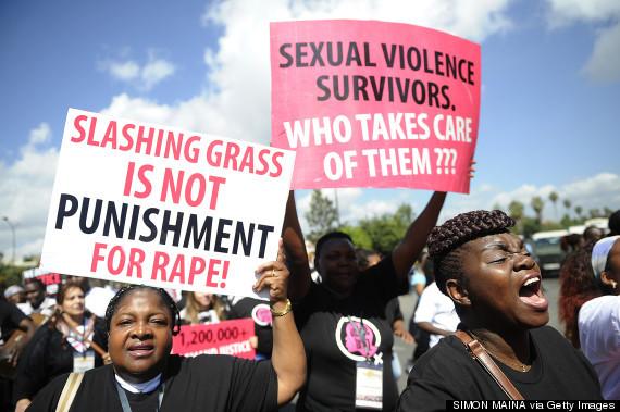 People protesting in Kenya