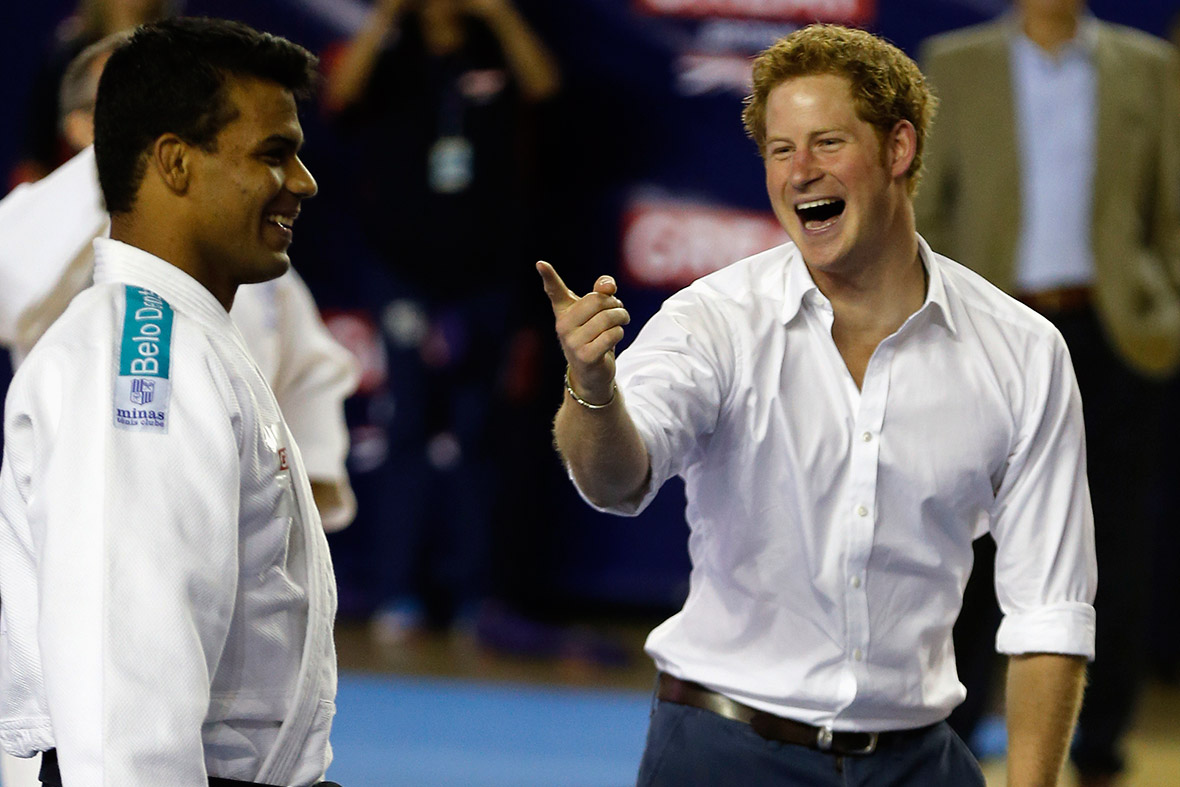 prince harry basketball