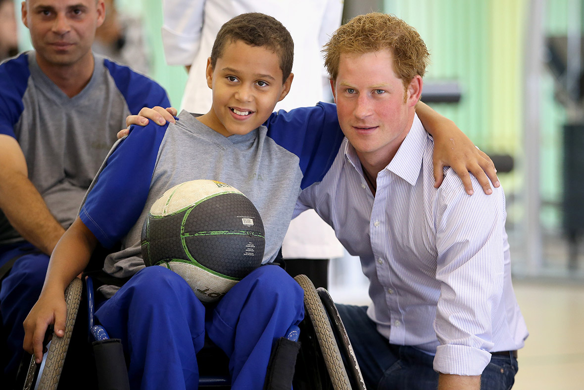 prince harry wheelchair basketball