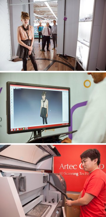 The 3D scanning process