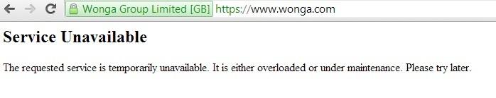 wonga website down