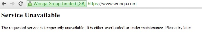 wonga website down