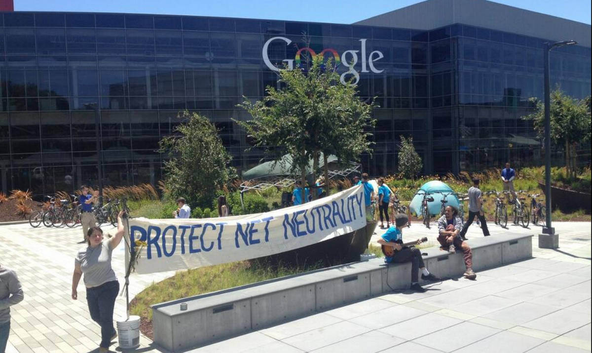Occupy Google Protestors Arrested Defending Net Neutrality
