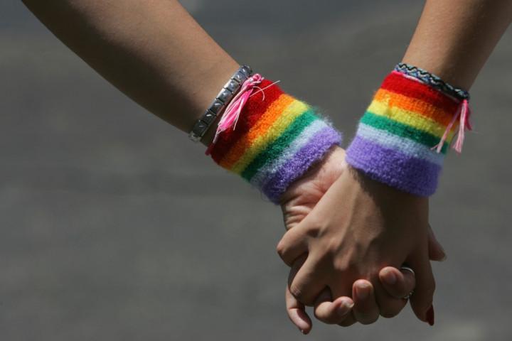 LGBT holding hands