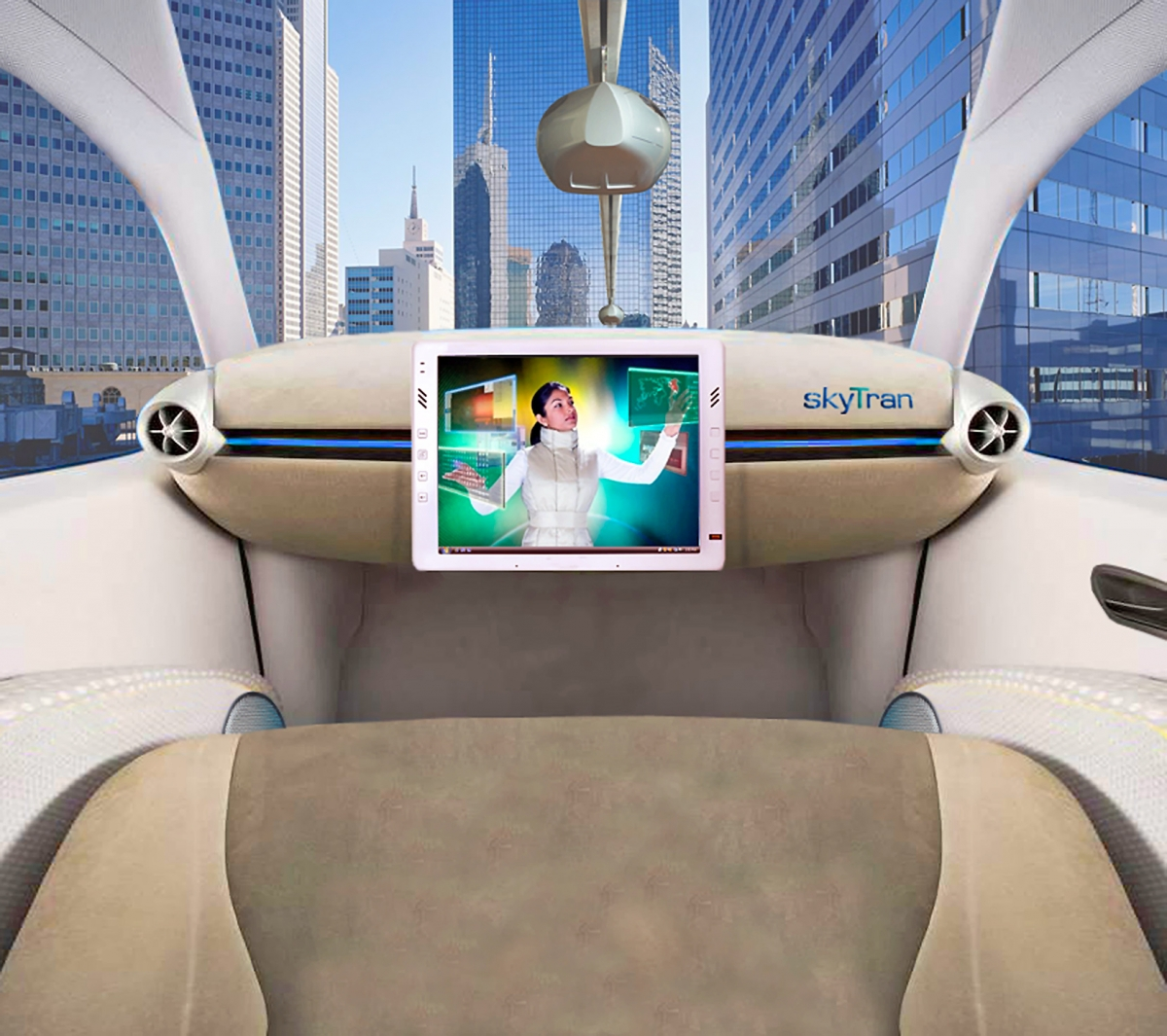 What the inside of a skyTran hover car would look like