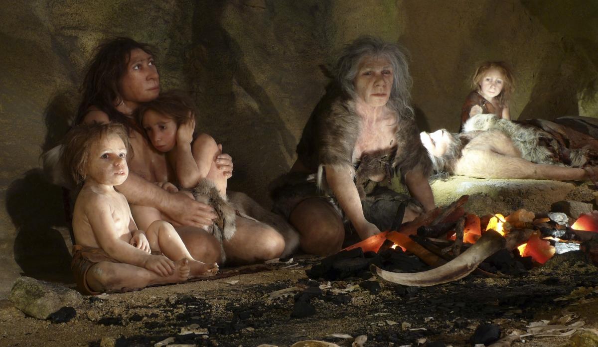 Neanderthals eating