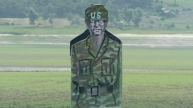 North Korean Troops Shoot at Targets Depicting US Soldiers