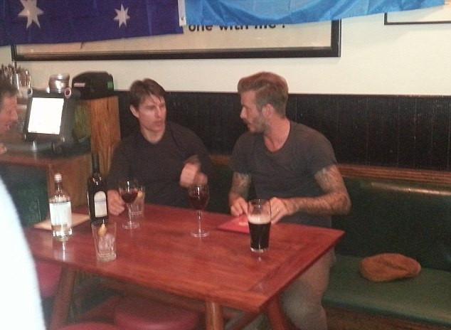 Tom Cruise and David Beckham