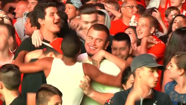 Swiss Celebrate World Cup Win Against Honduras