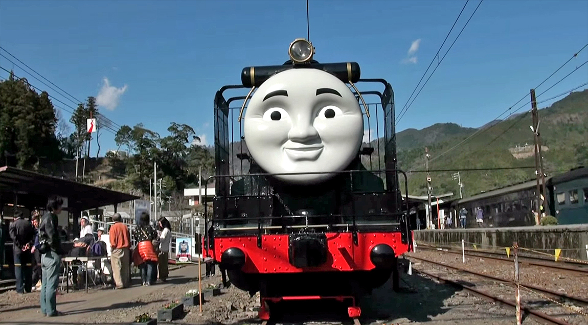 Hiro smiles at visitors to Senzu Station in the Shizuoka Prefecture