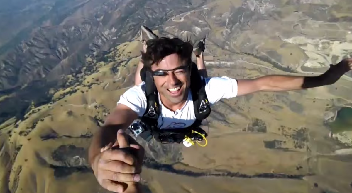 Google Glass Skydiving Demo Google I/O 2012