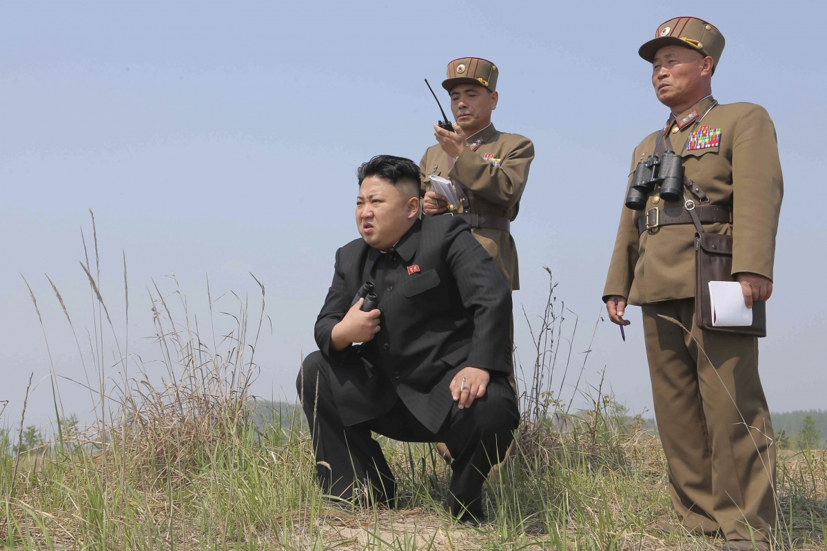 Kim Jong-un guides North Korea's new tactical missiles