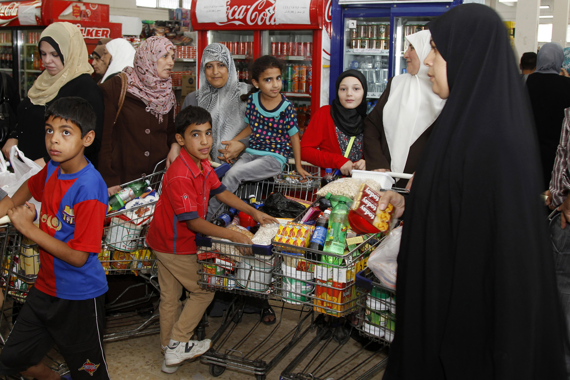 Stocking up on food for Ramadan