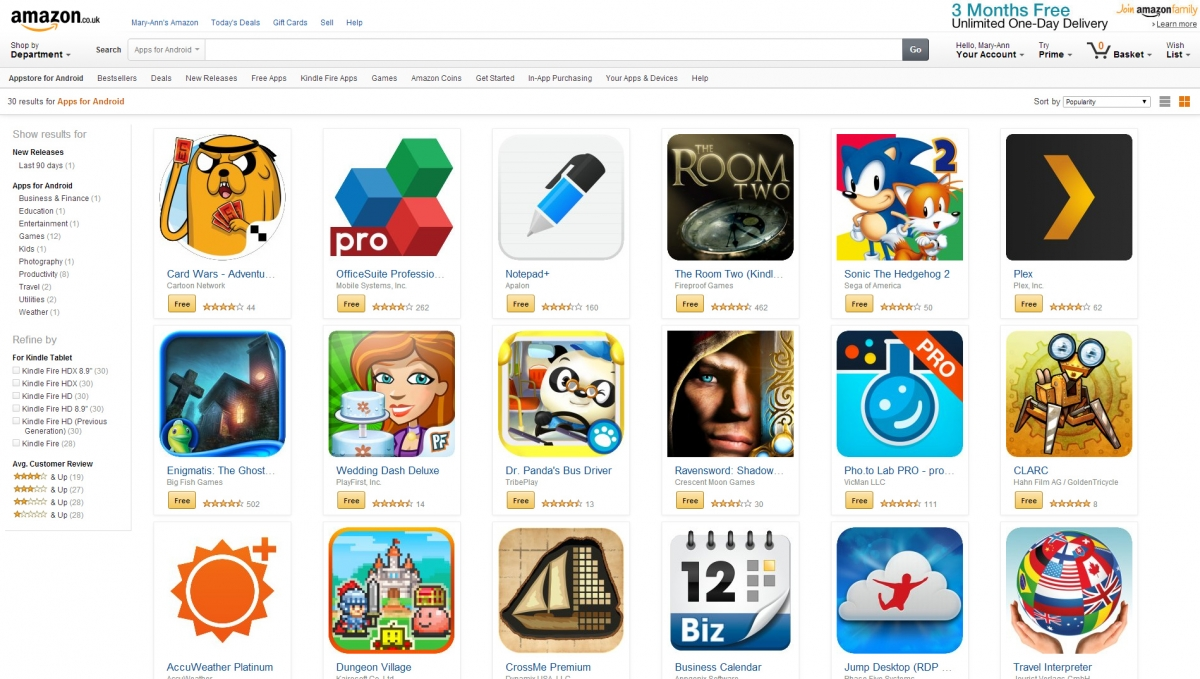 Amazon is offering 30 popular paid Android apps worth over £100 for free this weekend only