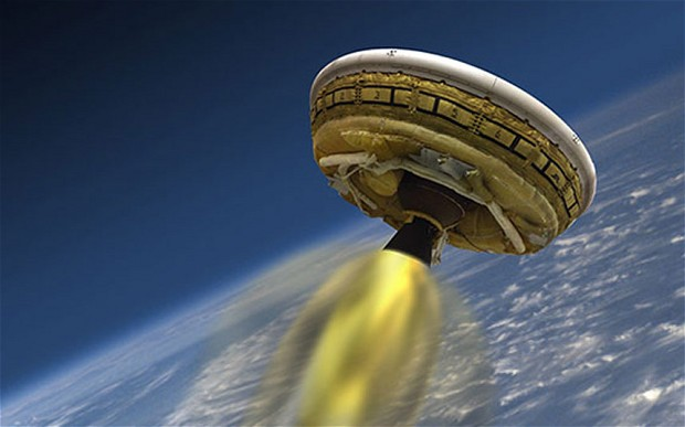 Nasa's flying saucer-shaped spacecraft is conducting tests for future Mars landings