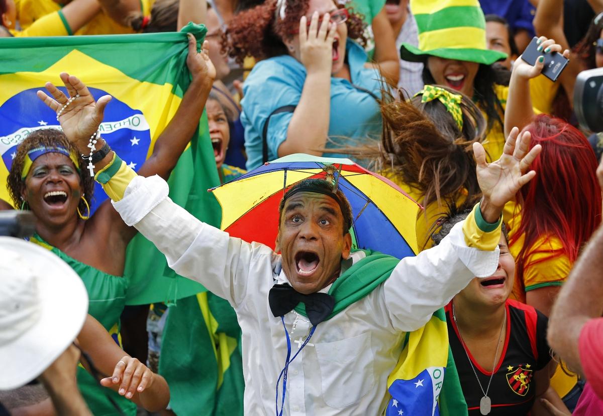 Brazilian fans World Cup 2014 Brazil Chile