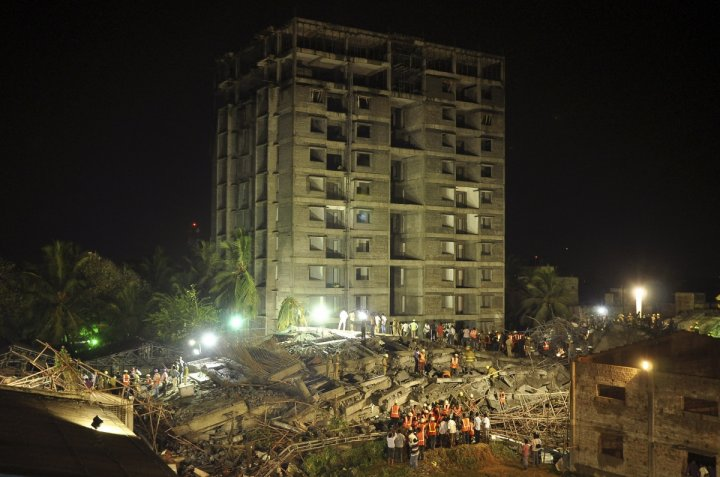 Rescue teams with cutters and shovels are continuing to search for survivors in the rubble in Chennai, Tamil Nadu state.