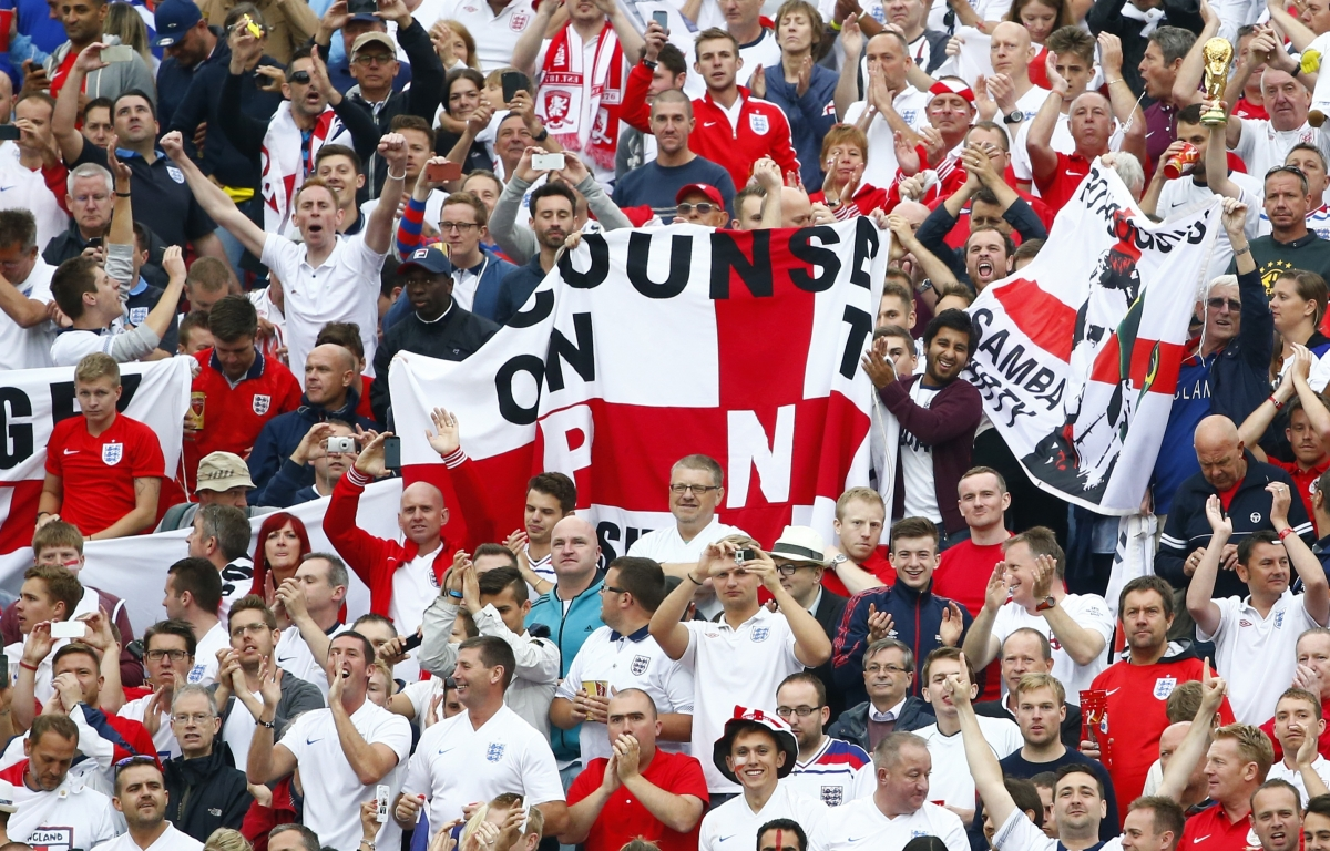 England Fan ear Bitten