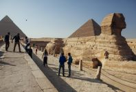 4. The Pyramids of Giza, one of the seven wonders of the ancient world and built around 2600 B.C