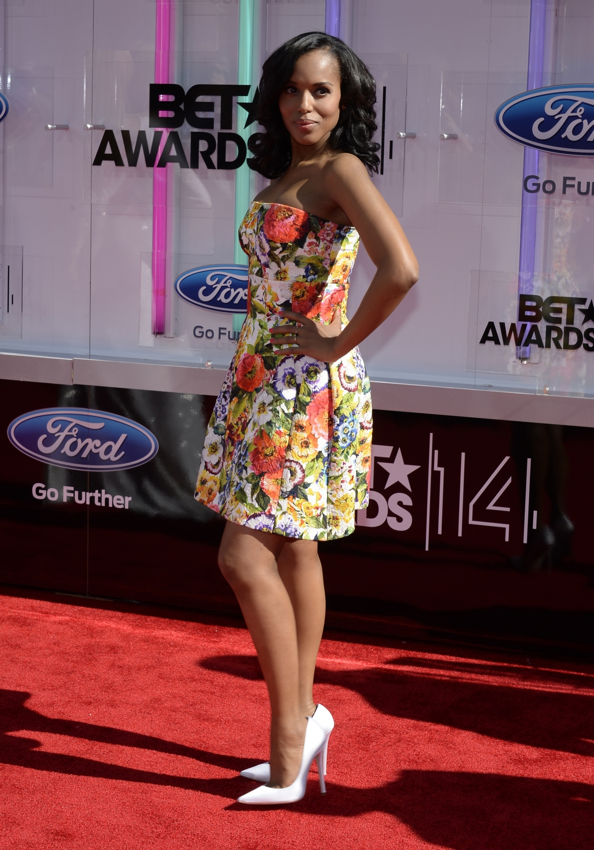 Kerry Washington arrives at the 2014 BET Awards in Los Angeles, California June 29, 2014.