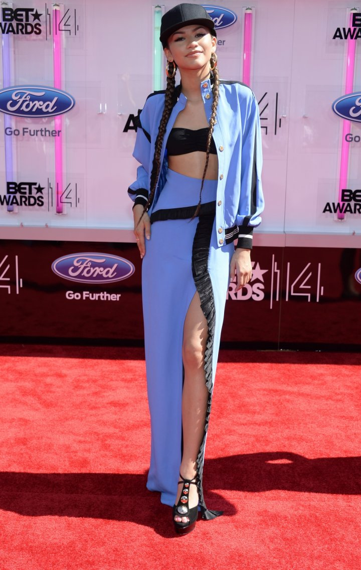 Zendaya arrives at the 2014 BET Awards in Los Angeles, California June 29, 2014.
