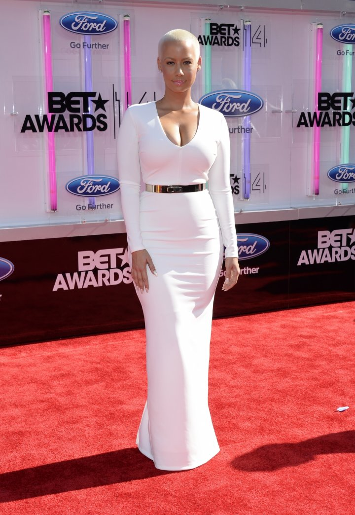 Amber Rose arrives at the 2014 BET Awards in Los Angeles, California June 29, 2014.