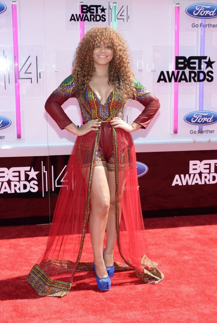 Nadia Buari arrives at the 2014 BET Awards in Los Angeles, California June 29, 2014.