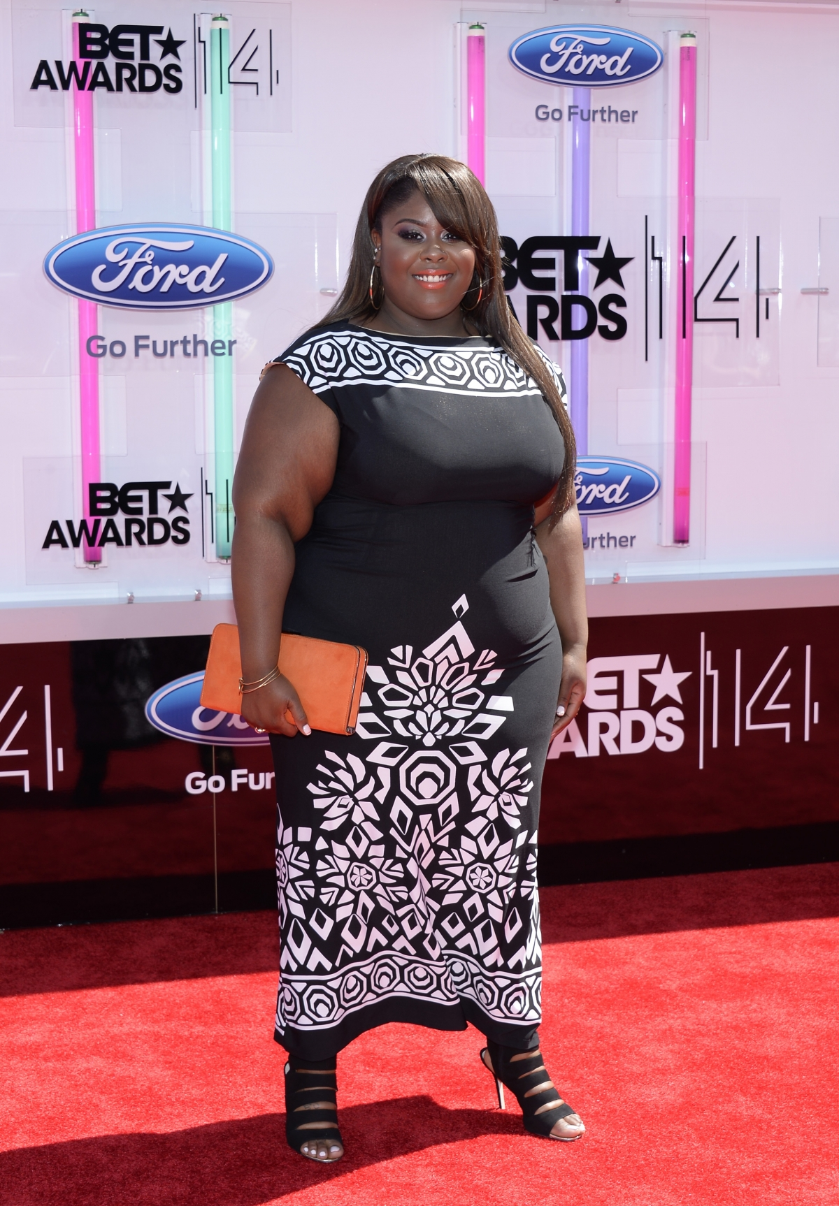 Raven Goodwin arrives at the 2014 BET Awards in Los Angeles, California June 29, 2014.