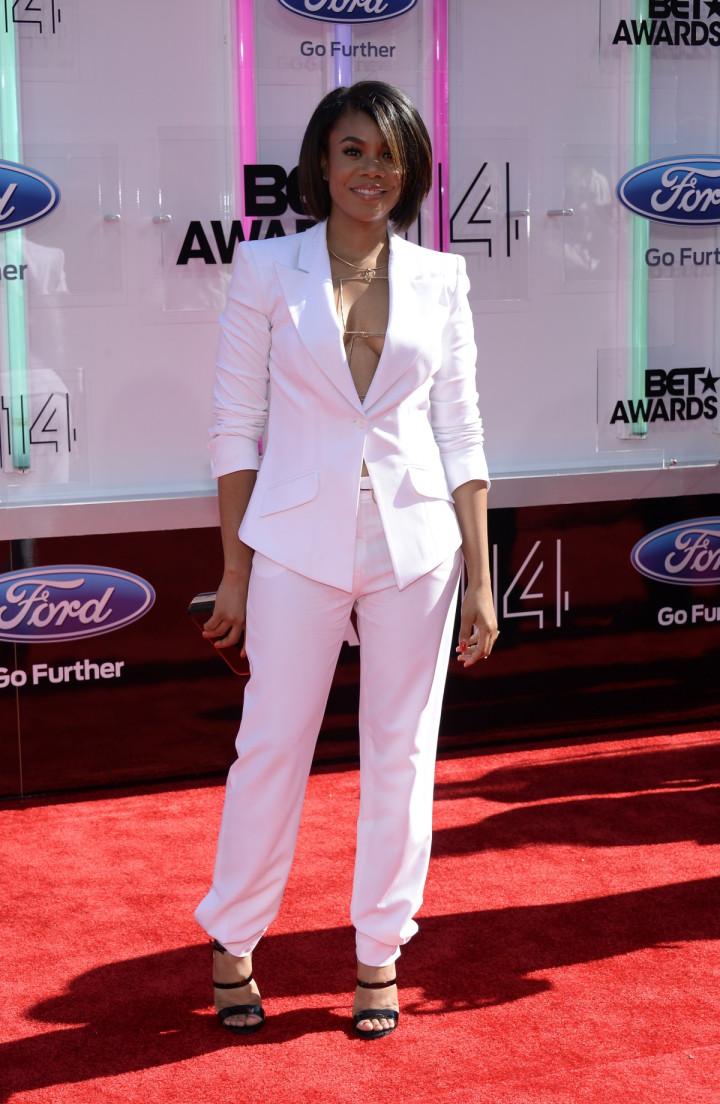 Regina Hall arrives at the 2014 BET Awards in Los Angeles, California.