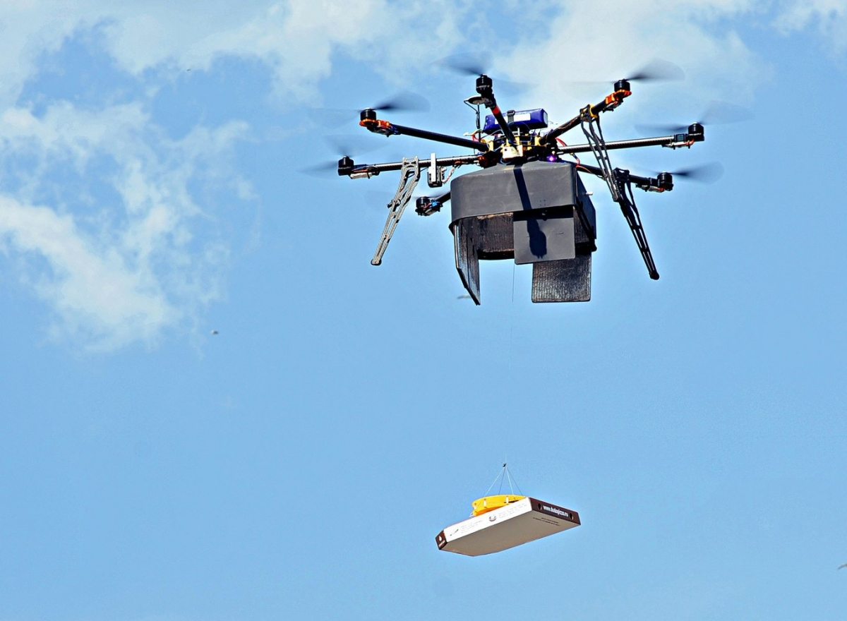 DoDo Pizza's new drone pizza delivery service