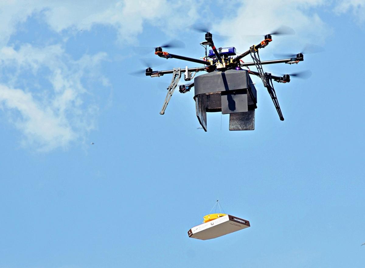 DoDo Pizza's new drone pizza delivery service