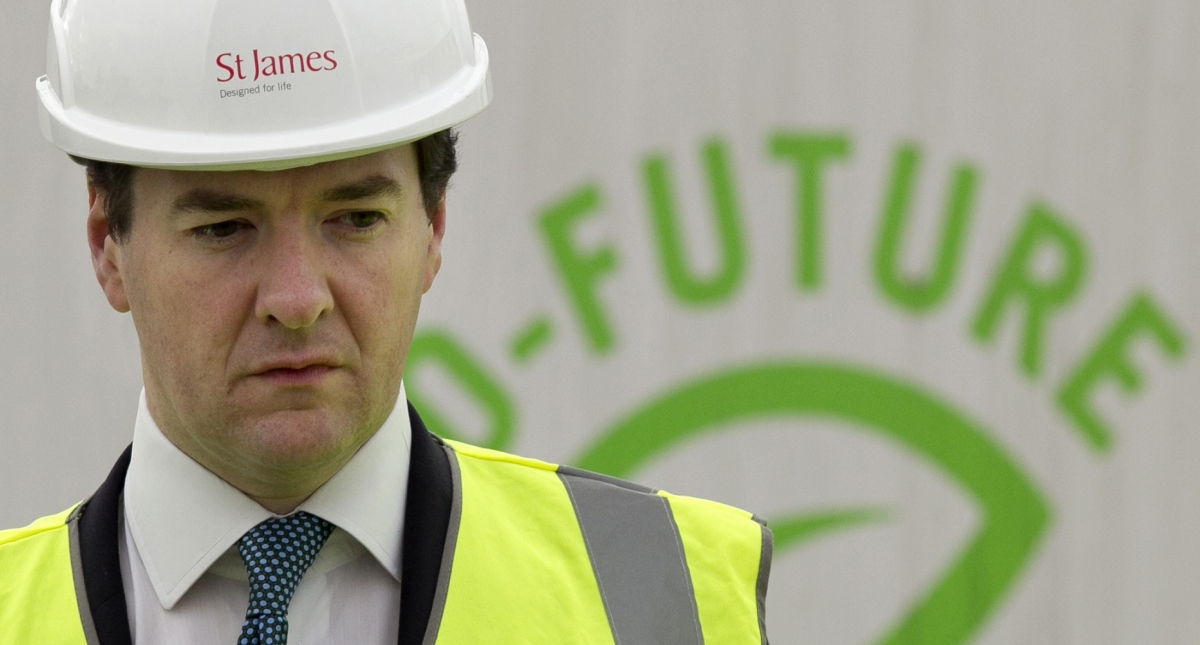 George Osborne hard hat