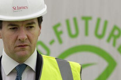 George Osborne hard hat