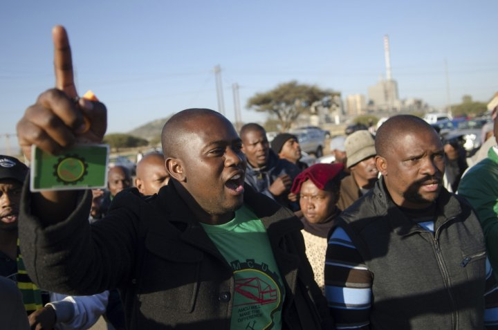 Lonmin mine workers