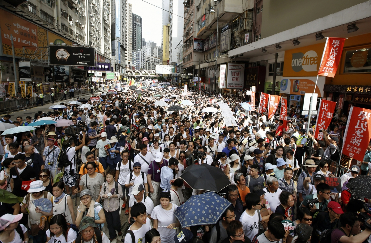 Hong Kong: 500,000 Protest Against Beijing in Pro-Democracy Rally