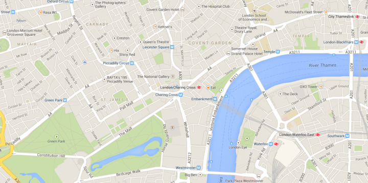 Google Map Of London.Google Maps Turns London Tube Stations Into New York Subway