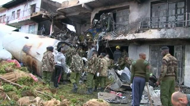 Cargo Plane Crashes in Kenyan Capital Nairobi