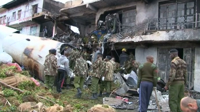 Cargo Plane Crashes in Kenyan Capital Nairobi