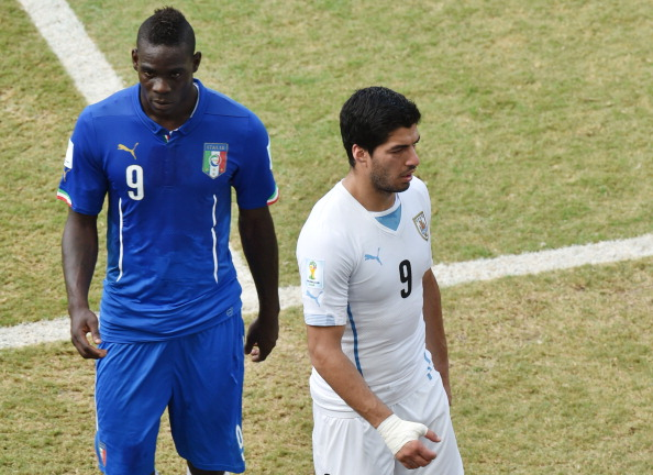 Mario Balotelli and Luis Suarez