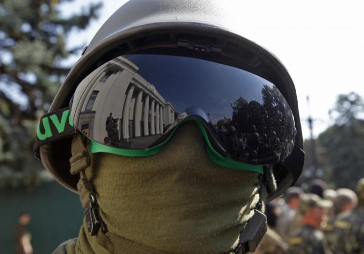 Kiev volunteer security