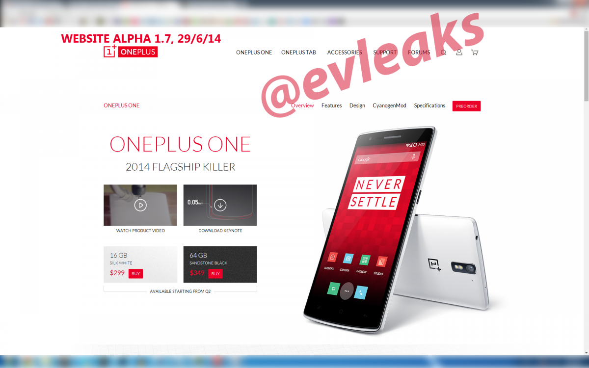 OnePlus Tab Fake Website