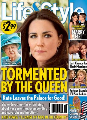 Life & Style claims Kate was criticised by the Queen over renovations to the Anmer Hall property in Norfolk.